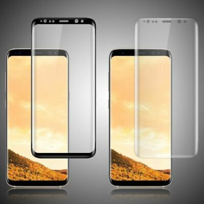 2 x Full Tempered Glass Screen Protector For Samsung Galaxy S7 S8 S9 S10 Plus