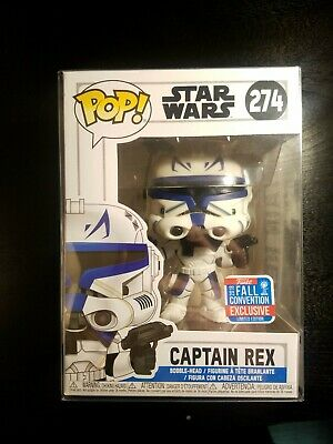 Funko Pop! Star Wars Clone Wars Captain Rex #274 Shared NYCC With Pop Protector