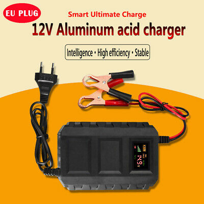 12V Motorcycle Motorbike LCD Smart Battery Charger Automatic Trickle Charging