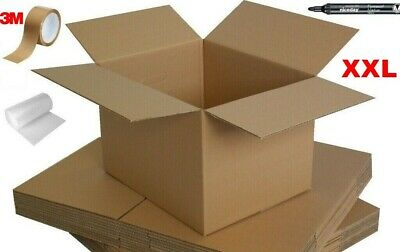 New Xx-Large Single Wall Cardboard House Moving Removal Packing Box Bundle