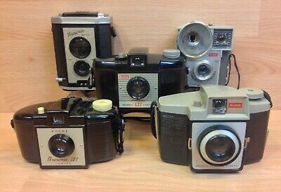 Vintage Kodak Brownie Job Lot Five Various Cameras.