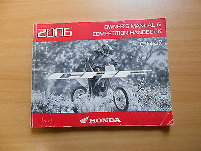 Owner`s manual & Competition Handbook Honda CRF 450 X Modell 2006