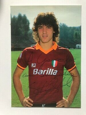 Autografo originale MARK TULLIO STRUKELJ-Cartolina Ufficiale AS ROMA-Anni 80