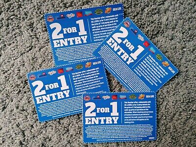 4x 2 For 1 Entry UK Merlin Entertainment Attractions