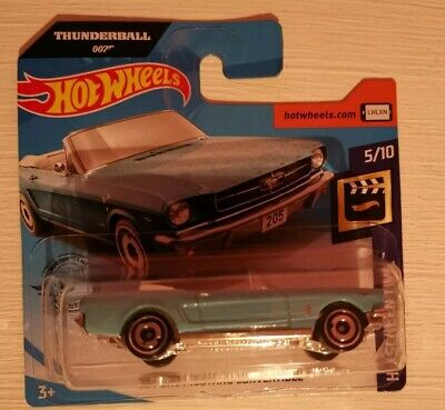 Hot Wheels 1965 Ford Mustang Convertible 2020 Release 007 Thunderball James Bond