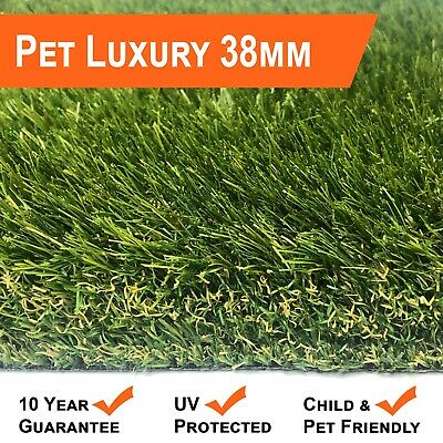 Pet Luxury 38mm Artificial Grass - Best for Dogs - Polyurethane Backing No Smell