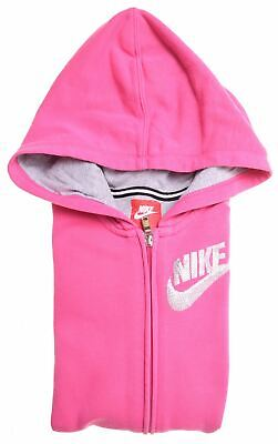 NIKE Girls Hoodie Sweater 11-12 Years Large Pink Cotton  DX05