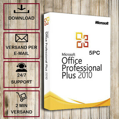 Office 2010 Professional Plus - 1/2/3/4/5PC - 32&64 Bits - ESD per Email