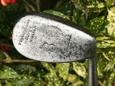 Nice Playable W. R. Thomson (West Hove) Hickory Shafted Cochrane Niblick