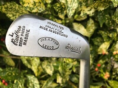 Very Nice James Frew (Leeds) Hickory Shafted Ladies Musselback Mashie