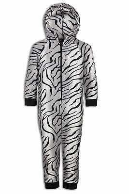 Camille Childrens Soft Fleece Snow Tiger All In One