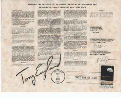 Astronaut Tony England -  Superb Signed Copy Document - About Rescue In Space