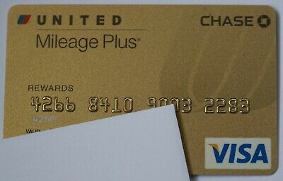 Expired in 03/2009 Chase Bank United Airlines Visa Credit Card Mint