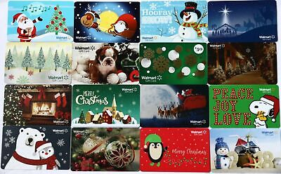 Lot of 16 Walmart Christmas Holidays Gift Card Collectible Cards $0 New