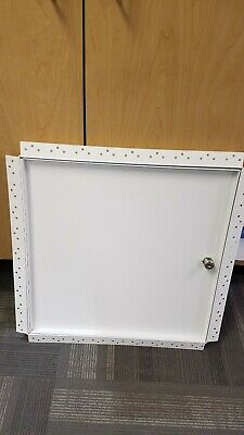"""18""""x18"""" Recessed Access Door with Drywall Flange, Cylinder Lock"""