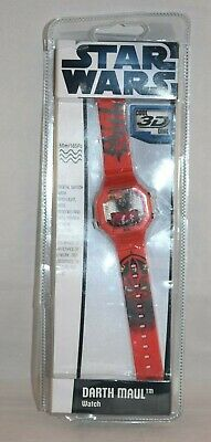 New Star Wars Cool 3D Dial Darth Maul Watch 50m/165ft
