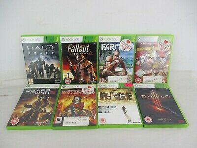 Job Lot of XBox 360 Games Age 16+ Red Alert 3 Diablo Farcry 3 Fallout