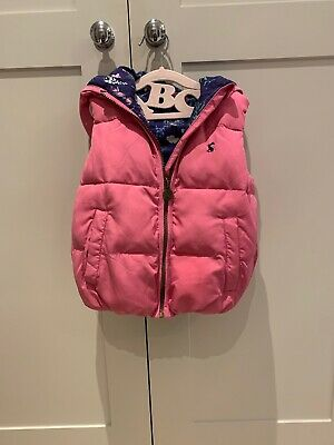 Joules Girls Pink Gilet Bodywarmer Jacket Coat Warm Age 4 Years *Mint Condition*