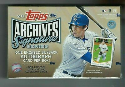 2020 Topps Archives Signature Series Baseball Active Player Edition box SEALED
