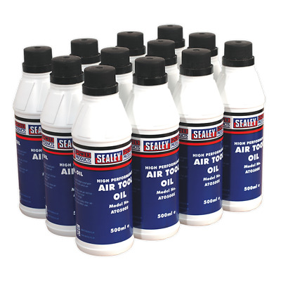 Sealey Air Tool Oil 500ml Pack of 12 - ATO/500