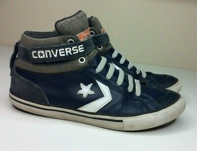 Converse All Star Blue Leather Suede Knit Pro Blaze Junior Size 6