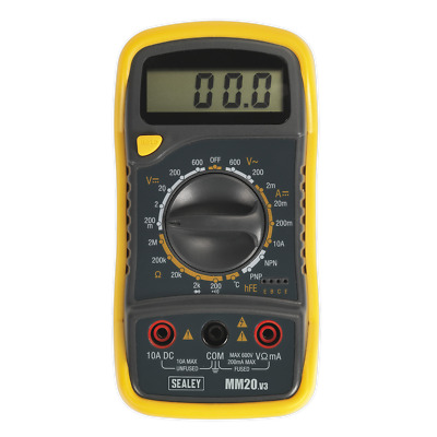 Sealey Digital Multimeter 8 Function with Thermocouple - MM20