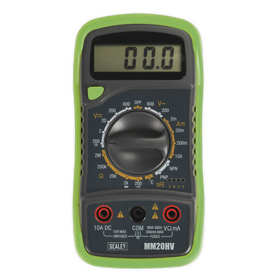 Sealey Digital Multimeter 8 Function with Thermocouple Hi-Vis - MM20HV