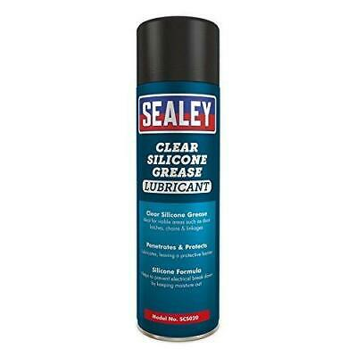 Sealey Clear Silicone Grease Lubricant 500ml Pack of 6 - SCS020