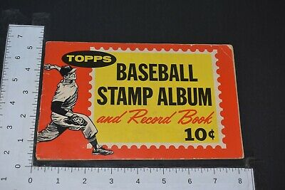 1962 Topps Baseball Album 77 Stamps Hank Aaron Mickey Mantle Mays Banks Kaline