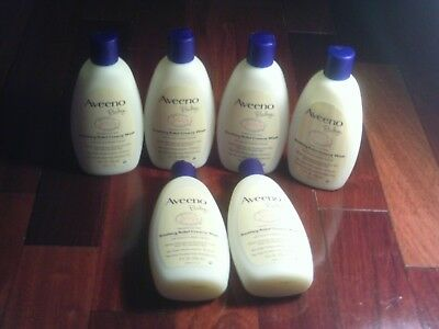 6 Aveeno Baby soothing relief creamy wash fragrance free 8 fl oz