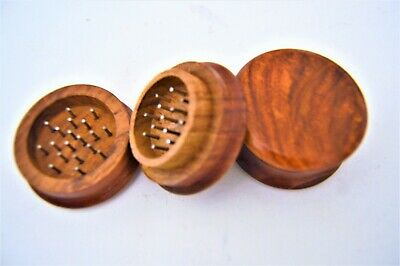 "Vintage Classic Wooden Tobacco Grinder 2"" inch Wood Spice/Herb Crusher New"