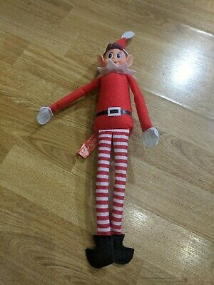 "Red Naughty Elf Elves Behavin Badly On The Shelf A Boy 12"" Prop Doll Christmas"