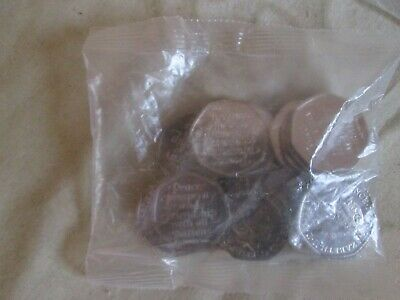 sealed bag of 20 brand new uncirculated 2020 brexit 50p coins