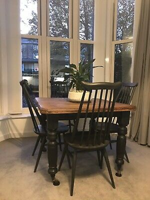 Ercol Windsor Goldsmith FOUR Dining chairs. Restored Annie Sloane Chalk Paint