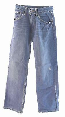Arizona Boys size 12 Cotton Medium Wash 5-Pocket Straight Leg Jeans Pant Blue