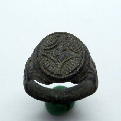 Medieval Ancient Artifact Bronze Ring