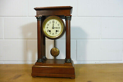 Antique French Mantel Clock Old Clock Table Clock Empire