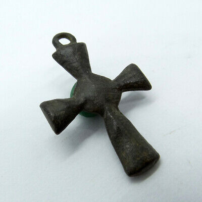 Medieval Ancient Artifact Bronze Knightly Cross