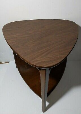 Vintage MERSMAN 31-5 Guitar Pick Table 2-Tier Mid Century Modern Formica Top