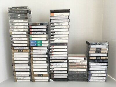 Maxell XL II, TDK, Memorex, Sony, Recoton Cassette Tapes Lot of 95 Mixed Lengths