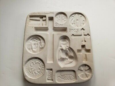 1953 Charles Houston Fresno California PM-5 Religious Ceramic Casting Mold