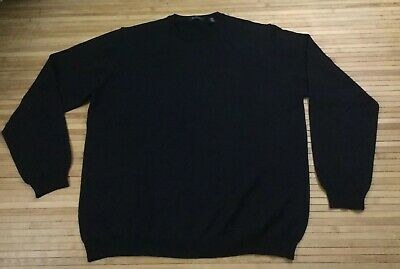 Mens Barneys New York Made In Italy Merino Wool Crewneck Sweater size Large