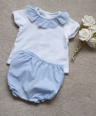 Baby Boys Spanish  Smocked Romper Suit  Jam Pants  Babidu  Small Fit Age 6 Mth