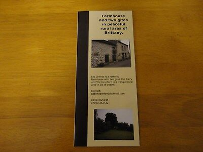 holiday brochure gites in Brittany in peaceful rural location