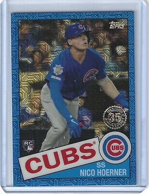Nico Hoerner 2020 Topps Series One Silver Pack RC Blue Mojo Refractor #/150 Cubs