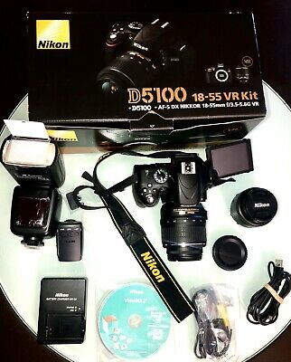 Nikon  D5100 16.2MP Digital SLR Camera - Black (Kit)