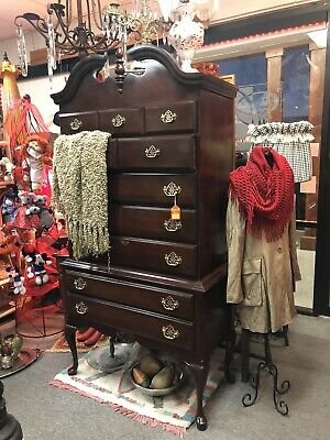 Beautiful Kincaid Solid Cherry Traditional Queen Anne Highboy