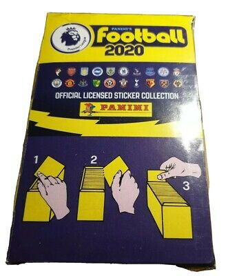 Panini Football 2020 Premier League 100 Sticker Packets Full SEALED box