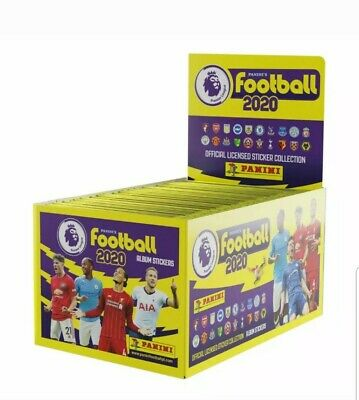Panini Football 2020 Premier League 100 Sticker Packets Full display box