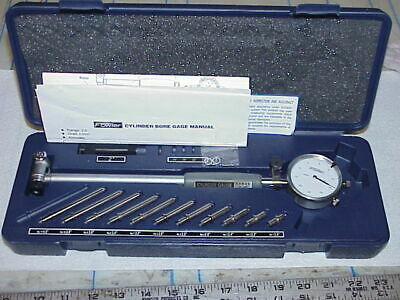 "Fowler/Bowers 2-6""/.0005"" Dial Cylinder Bore Gage Deluxe Set 10"" Depth w/ Case"